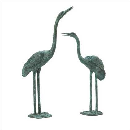Pair of Aluminum Cranes  #37513