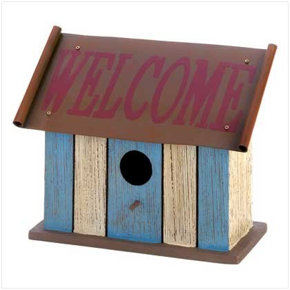 Welcome Birdhouse  #12581