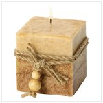 Rustic Wood Square Candle #39242