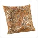 Metallic Leopard Pillow  #12247