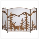 Rustic Forest Fireplace Screen  #12295