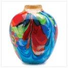 Floral Fantasia Art Glass Vase  #12982