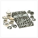 Zebra Bath Set - 6 Pcs  #39732
