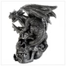 Skull And Dragon Figurine  #12901