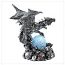 Armored Dragon With Led Globe  #12696