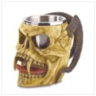 Skull Tankard with Steel Cup  #38009