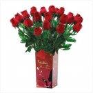 Lifelike Feather Roses  #39569
