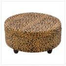 Luscious Leopard Round Ottoman  #13405
