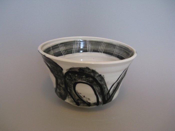 Patti Schneider Tribal Black and White Bowl
