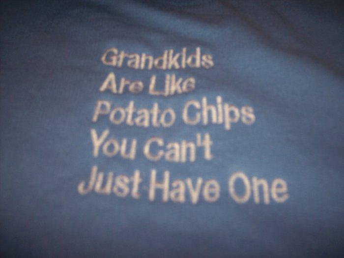 Grandpa  Grandma T shirt Custom Embroidered NWOT