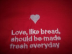 Valentines Day Love Heart Custom Embroidered T Shirt