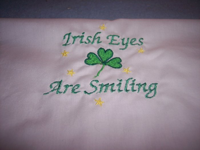 Irish Eyes are Smiling Custom Embroidered T Shirt Childs