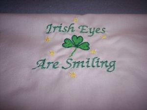 Irish Eyes are Smiling Custom Embroidered T Shirt Childs