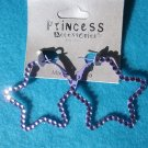 purple star earrings