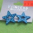 blue crystal star earrings