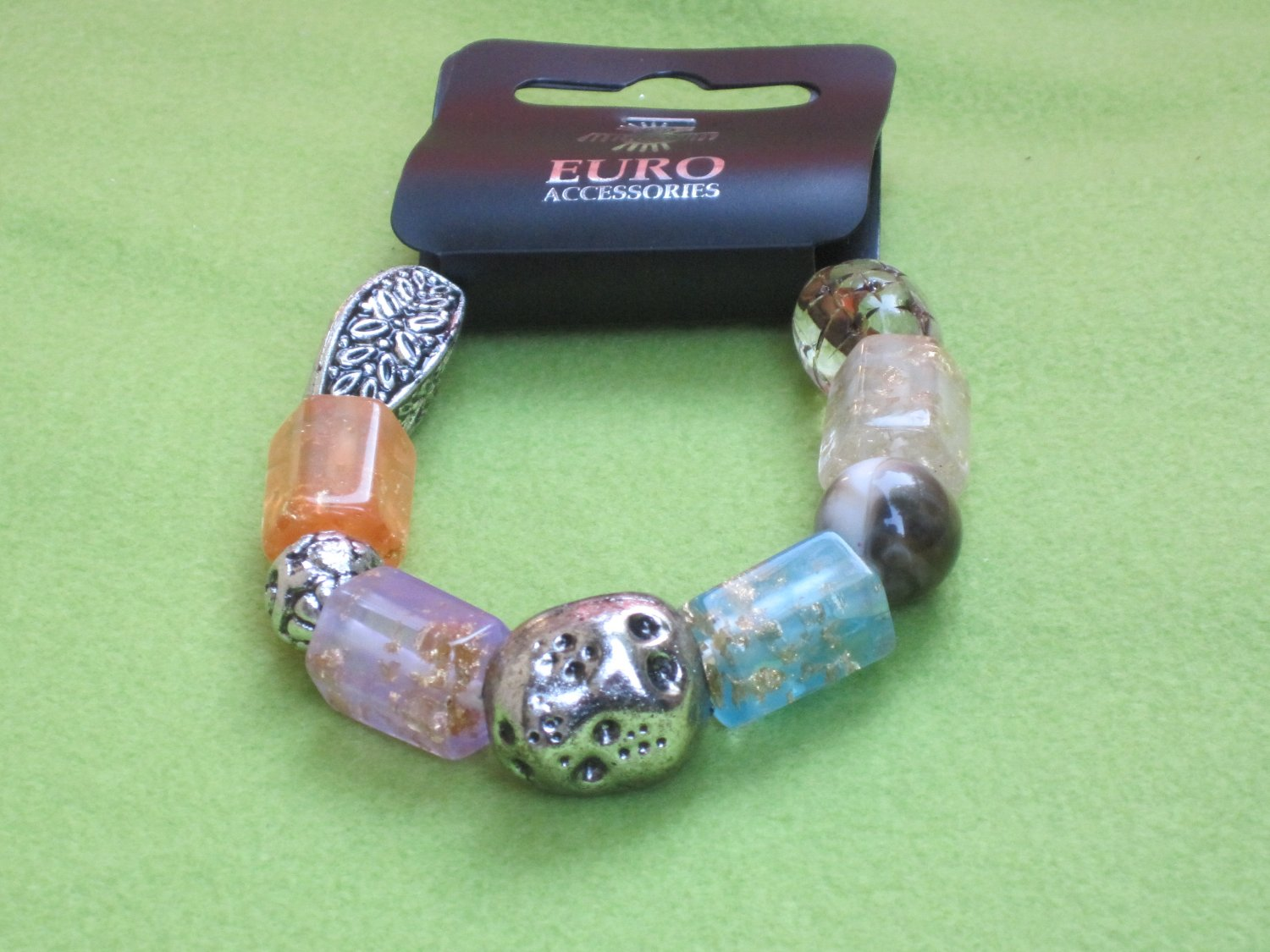 Multi- Colored beads with Gold Speckles