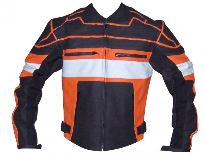 Figure Motorbike Leather Jacket