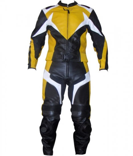 Wing  Motorbike Leather Suit 2-Pc