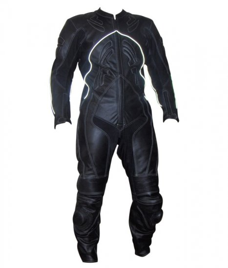 Flasher Motorbike leather Suit 1-pc