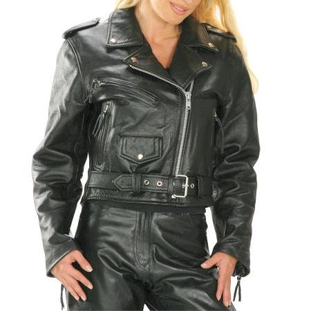 Brando Classical motorbike Leather Jacket Women