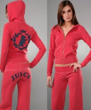Juicy Couture SCOOTIE DOG TrackSuit Set NWT RED LARGE