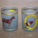 Champagne Circuit Horse Racing Glass Cups Set of Two