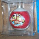 Disneyland Reindeer Roundup Glass Ornament MICKEY PLUTO