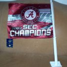 2009 SEC Champions Alabama Crimson Tide Car Flag NWT