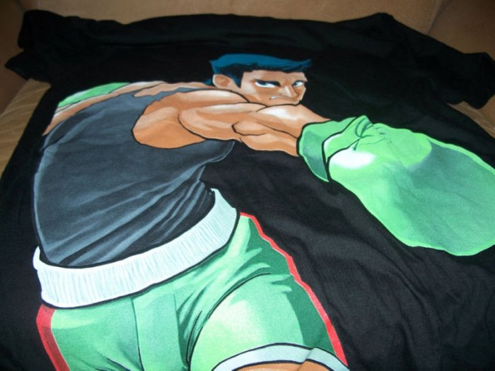 Retro Style PUNCH - OUT Video Game Shirt Black Size L