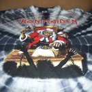 Rare Iron Maiden 1990 Deaf Sentence Tie Dye Shirt XL