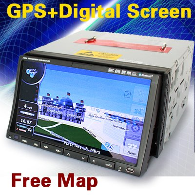 7'' 2 Din Digital Screen GPS Car DVD Player Bluetooth TV Tuner  Radio RDS-E92