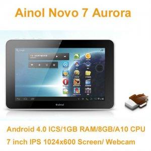 Tablet Ainol Novo 7 Aurora 7 Zoll Android 4.0 Ice Cream Sandwich ICS
