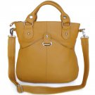 Yellow Genuine Leather Women's Fashion Handbag Cross Body Bag