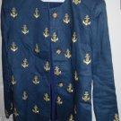 ladies 2pc navy blue nautical pant suit size 12