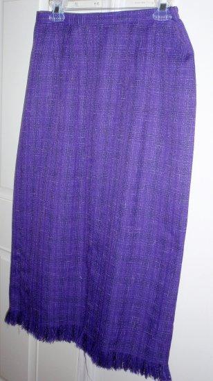 Ladies size 12 SAGHARBOR skirt (PURPLE)