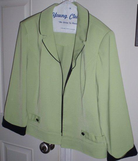 ladies size 12 R&K green blazer