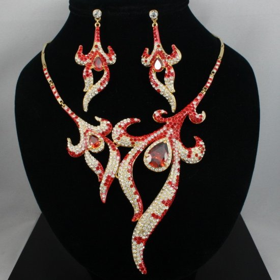 Necklace & Earring Set: Fire on the Mountain