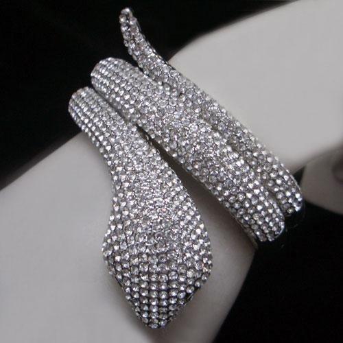 Mr. Single Snake Crystal Bracelet