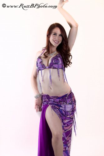 PURPLE PUCCI PRINT BELLYDANCE COSTUME BY HALLAH MOUSTAFA