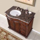 "36"" Victoria - Granite Stone Top Off Center Bathroom Vanity Single Sink (Left) 0213"