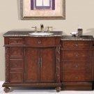 "55.5"" Victoria - Granite Top Single Sink Bathroom Vanity Cabinet (Right) 0213"