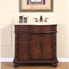 "36"" Victoria - Off Center Right Sink Marble Top Bathroom Single Vanity Cabinet 0213"