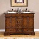 "48"" Sedona - Mini Compact Granite Stone Top Bathroom Double Sink Vanity Cabinet 0715"