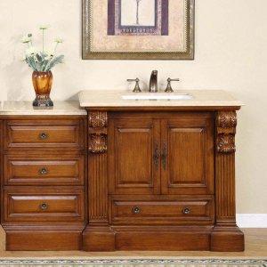"58"" Bravia - Bathroom Furniture Single Sink Vanity Cabinet Soft Closing Hardware 0907"
