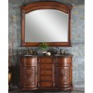 "54"" Stephanie - Stone Top Double Bathroom Sink Vanity (English Chestnut Finish) 0201"