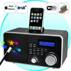 NEW! Super Radio (Streaming Internet, DAB+, iPod/iPhone Dock)