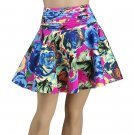 Pleated Abstract Floral Skirt (C4-812)
