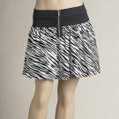 Zip Front Zebra Skirt (C4-812)
