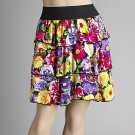 Colorful Floral Tiered Skirt (C4-812)