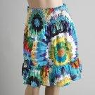 Smocked Waist Tye Dye Skirt (C4-812)